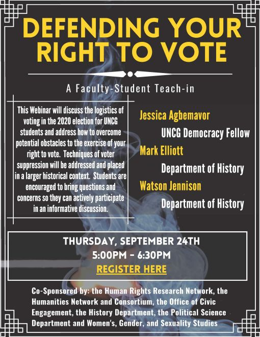 Defending Your Right to Vote event flyer